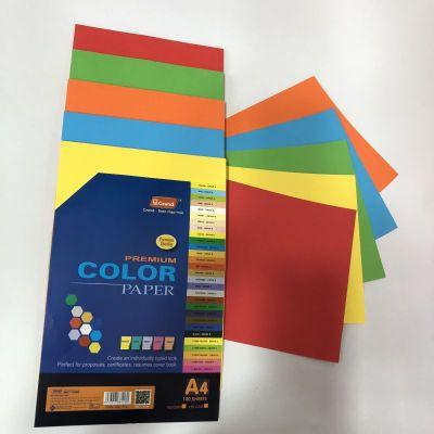 Bìa 5 màu đặc biệt A4 160gsm (100 tờ/xấp 5 màu)